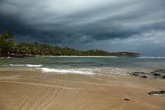 Beach before storm. Sri Lanka Stock Photo