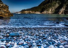 Beach at the Storms River Mouth at the Indian Ocean Stock Image