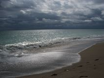 Beach on Stormy Morning Stock Image