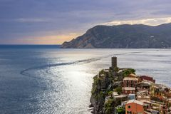 Vernazza in Cinque Terre in Italy royalty free stock photography