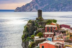 Vernazza in Cinque Terre in Italy royalty free stock image