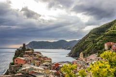 Vernazza in Cinque Terre in Italy stock photos