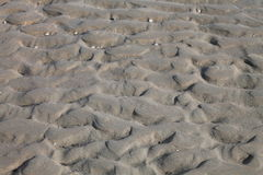 Beach structures in the sand Stock Image