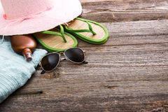 Beach stuff and accessories Stock Photo
