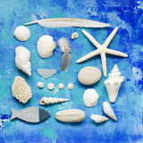 Beach stuff collage Royalty Free Stock Photos