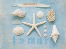 Beach stuff collage Stock Photography