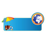 Beach stuff color vector illustration Royalty Free Stock Image