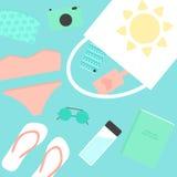 Beach stuff elements Stock Image