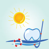 Beach stuff icon cartoon vector illustration Stock Images