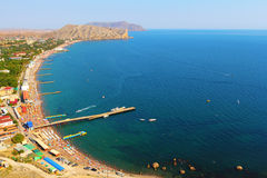Beach of Sudak Royalty Free Stock Image