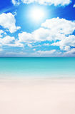 Beach at Summer. Superb Beach at Summertime in the caribbean Stock Photos