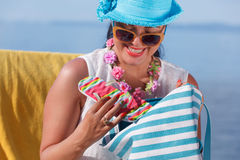 Beach and summer accessories concept Royalty Free Stock Photo