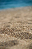 Beach summer background with sand and sea Stock Photography