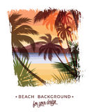 Beach summer background. Stock Photos