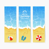 Beach Summer cards Royalty Free Stock Photos