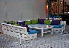 Beach summer club Stock Photo