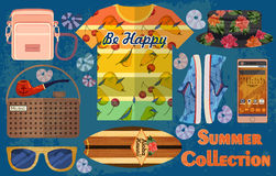 Beach summer collection Stock Image