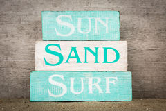 Beach Summer Decor Stock Images