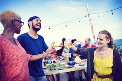 Beach Summer Dinner Party Celebration Concept Stock Photography