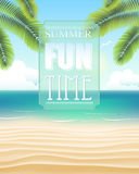 Beach with summer fun time Stock Images