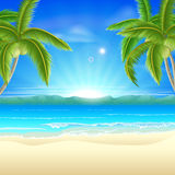 Beach summer holiday background vector illustration