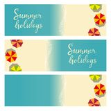 Beach summer holiday template for flyer Stock Photo