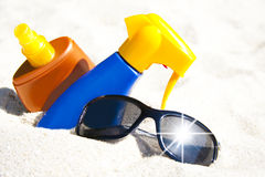 Beach, summer and holidays Royalty Free Stock Photography