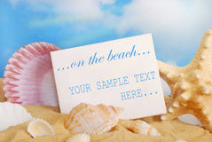 On the beach- summer holidays concept Royalty Free Stock Photography