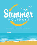 Beach and summer holidays Stock Photo