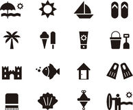 Beach and summer icon set Royalty Free Stock Photo