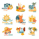 Beach And Summer Labels Set Royalty Free Stock Images