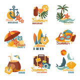 Beach And Summer Labels Set Royalty Free Stock Photography