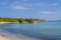 Beach in summer near Palau Sardinia, Italy. Royalty Free Stock Photography