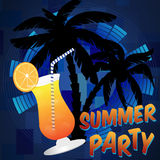 Beach summer party background Royalty Free Stock Photo