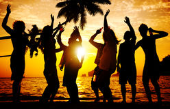 Beach Summer Party Enjoyment Happiness Youth Culture Concept.  Royalty Free Stock Photo