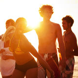 Beach Summer Party Enjoyment Happiness Youth Culture Concept Royalty Free Stock Images