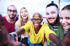 Beach Summer Party Togetherness Selfie Concept Royalty Free Stock Images
