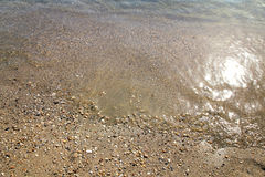 On the beach. Summer season in Nea Vrasna, Greece Royalty Free Stock Photos