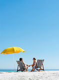 Beach summer umbrella Stock Images