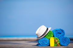 Beach and summer vacation accessories concept - Royalty Free Stock Photography