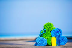 Beach and summer vacation accessories concept - Stock Photography