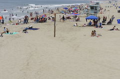 The Beach. Summertime and as usual people enjoying in Sta. Monica Beach Stock Photo