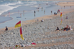 Beach in Summertime Stock Images