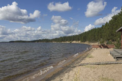 Beach. In summery northern Finland stock photography