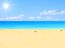 Beach and sun Stock Photo