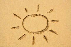 Beach Sun Sand Royalty Free Stock Photos