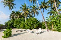 Beach at Huraa island, Maldives Royalty Free Stock Photo