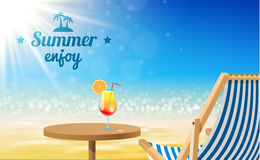 Beach sunny background- Vector Design. Illustartion of Beach sunny background- Vector Design Royalty Free Stock Images