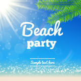 Beach sunny background- Vector Design. Illustartion of Beach sunny background- Vector Design Stock Photography