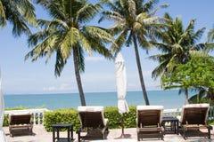 Beach on a sunny day. Royalty Free Stock Photos